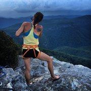 Rock Climbing Photo: Jamie shotguns a Busch at the summit of Table Rock...