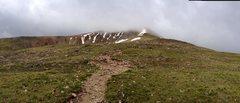 Rock Climbing Photo: Mt Elbert in the clouds