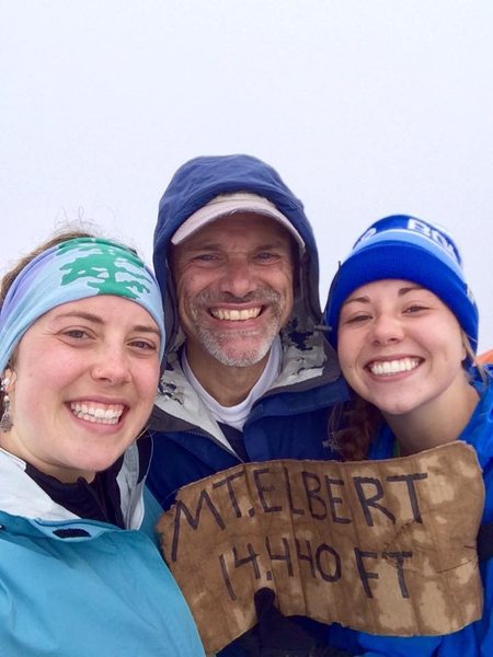 Pops, Ali and I on the summit of Mt Elbert