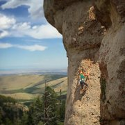 Rock Climbing Photo: Lindsay on Queen of England as shot from Medicine ...