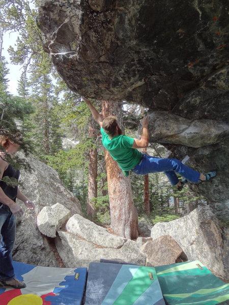 Rock Climbing Photo: Deep Puddle Arete.