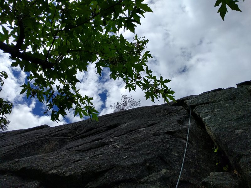 Rock Climbing Photo: The actual route is through a crack that is right ...