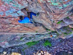 Rock Climbing Photo: Cheyne leading Urge to Mate