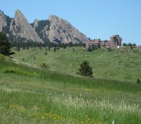 Rock Climbing Photo: The Third, Second, and First Flatirons, and NCAR.