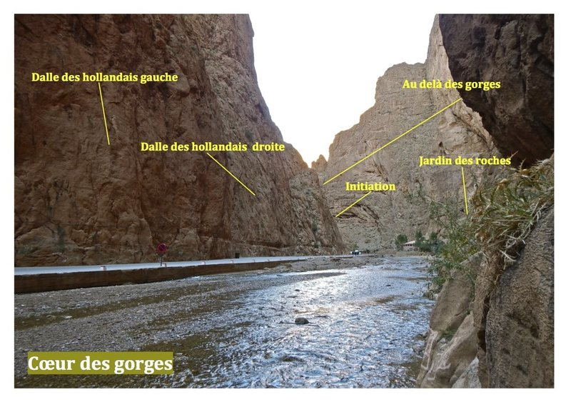 Guidebook climbing in the Todra gorges, Morocco<br> Topo escalade gorges du Todgha, Maroc<br> Heart of gorges / coeur des gorges
