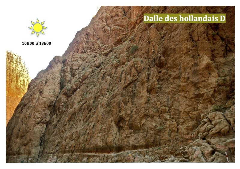 Climbing in Morocco Escalade au Maroc<br> Guidebook climbing in the Todra gorges <br> Dalle des Hollandais, Right