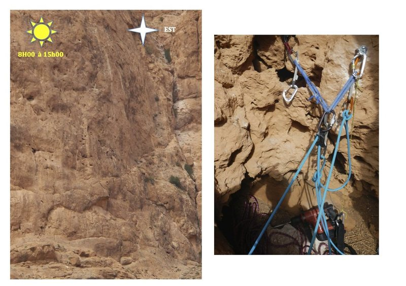 Climbing in Morocco Escalade au Maroc<br> Guidebook climbing in the Todra gorges <br> Jardin d&#39;hiver area