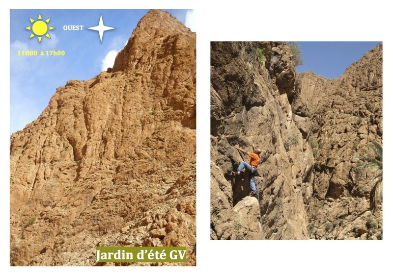 Climbing in Morocco Escalade au Maroc<br> Guidebook climbing in the Todra gorges <br> Jardin d&#39;été : Multipitches