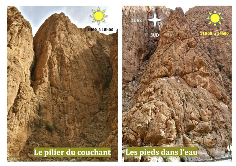 Climbing in Morocco  Escalade au Maroc<br> Guidebook climbing in the Todra gorges <br> Pilier du couchant area