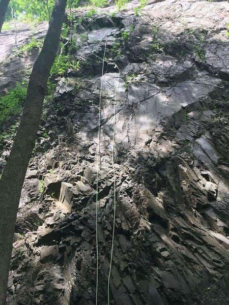 Rock Climbing Photo: Rope up to the crux