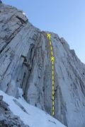 Rock Climbing Photo: Photo of the entire route (2 pitch)