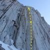 Photo of the entire route (2 pitch)