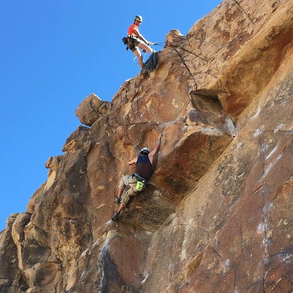 Rock Climbing Photo: Crux move on Child's Play.
