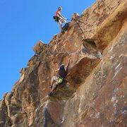 Rock Climbing Photo: Crux move on Child's Play.