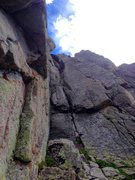 Rock Climbing Photo: Alex taking us to the top on P5 via Moss and Choss...