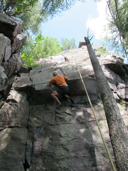 "Rock Climbing Photo: Dave Erickson, ""Manhandler"""
