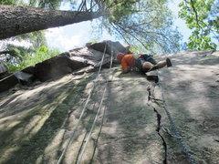 Rock Climbing Photo: Burt leads