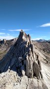 Rock Climbing Photo: Unknown climbers heading towards the South Summit ...