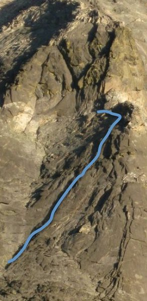 Rock Climbing Photo: Approximate line of left-facing flake system.
