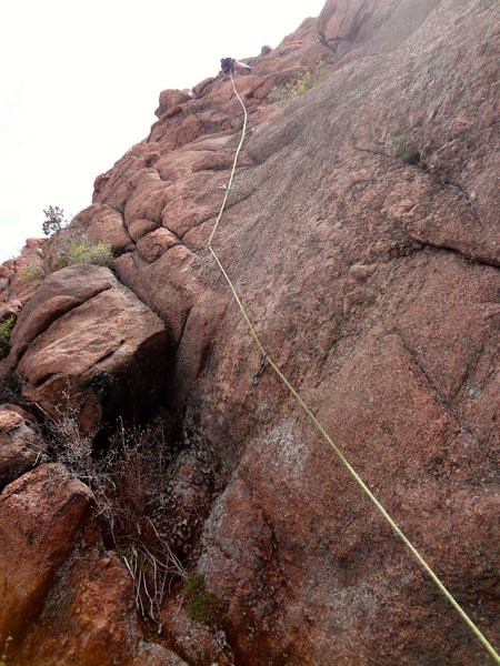 Rock Climbing Photo: Most of the way up the climb.