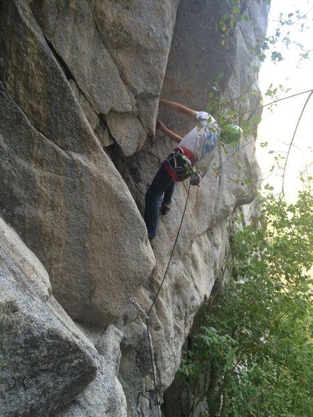 Rock Climbing Photo: Steep start