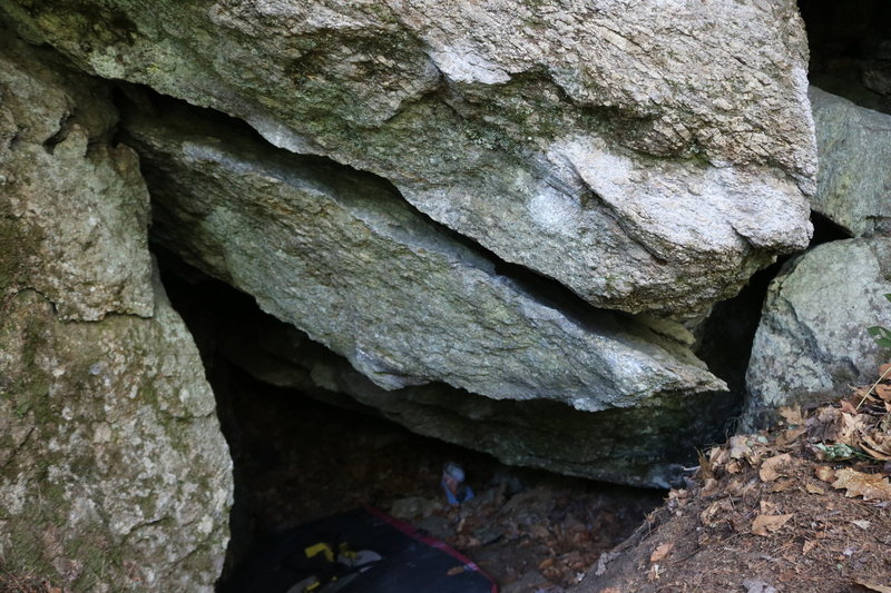 Rock Climbing Photo: The view from outside the cave. You start on a goo...