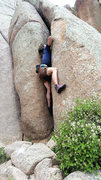Rock Climbing Photo: Alternate right start, 5.8+. Also, a way to get cl...