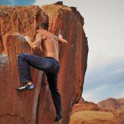 Rock Climbing Photo: Shot by Jessica Hamel of me climbing Split Decisio...