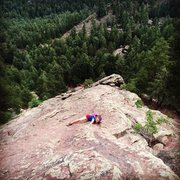 Rock Climbing Photo: Dayna showing how much more intimidating you can m...