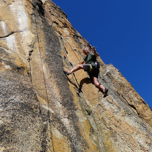 Rock Climbing Photo: Mike Arechiga on, Bitch Stewie. 5.11+