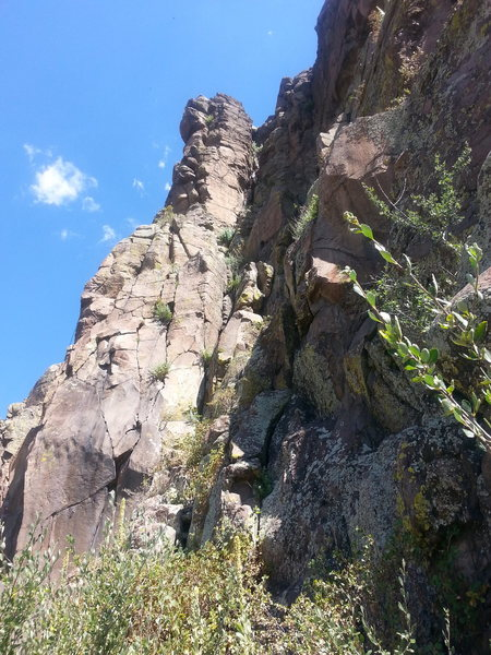 Rock Climbing Photo: Free soloing