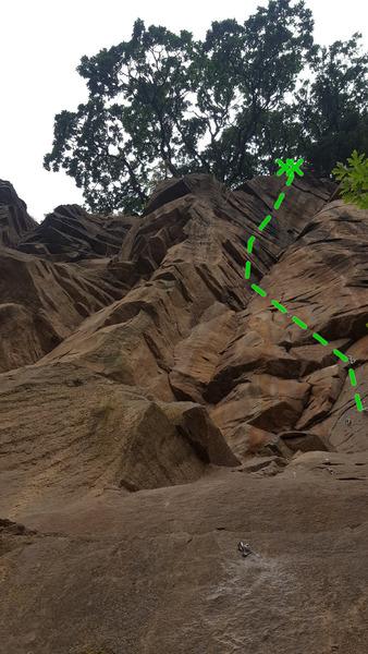 Rock Climbing Photo: Total Liberation topo