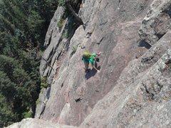 Rock Climbing Photo: Soloing Zig Zag.