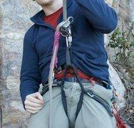 Rock Climbing Photo: Dangerous Rap Backup