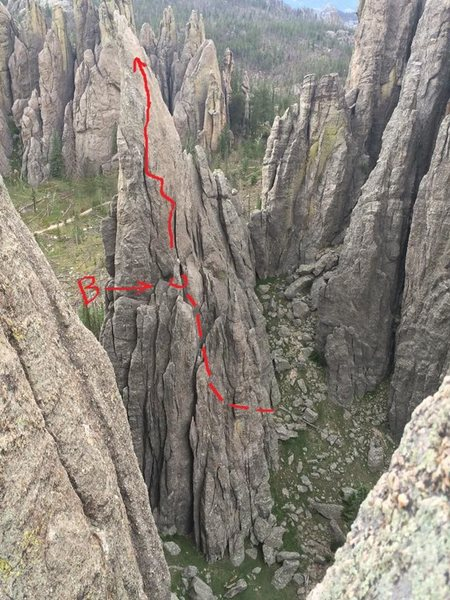 Rock Climbing Photo: After climbing this formation a couple times via d...