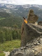 Rock Climbing Photo: Diwakar R setting up the toprope on Unnamed Toprop...