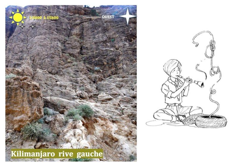 Climbing in Morocco  Escalade au Maroc<br> Guidebook climbing in the Todra gorges <br> Kilimanjaro rive gauche
