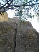 Rock Climbing Photo: X Marks the Spot-5.10+. Great climb with some amaz...