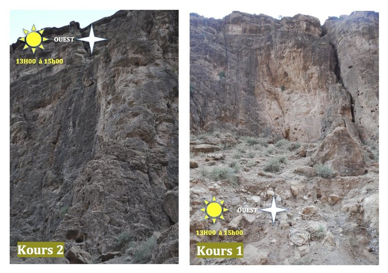 Climbing in Morocco  Escalade au Maroc<br> Guidebook climbing in the Todra gorges <br> Kours 1 & 2