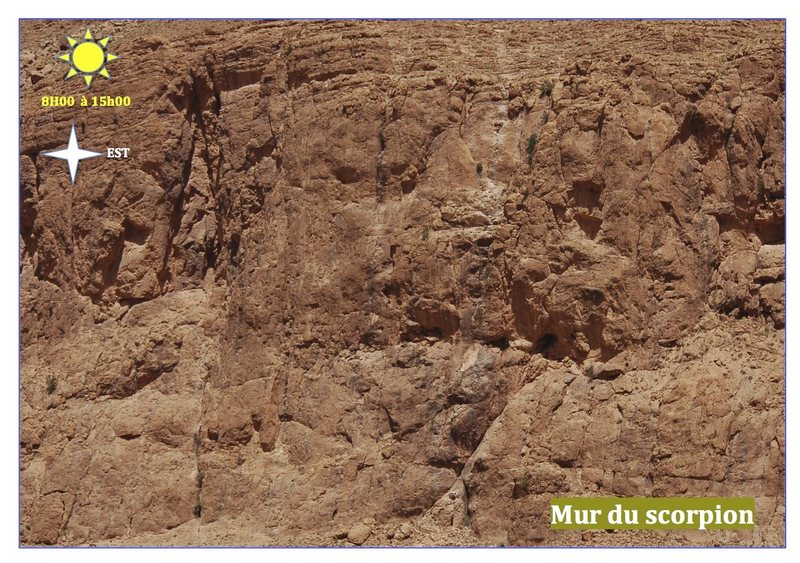Climbing in Morocco  Escalade au Maroc<br> Guidebook climbing in the Todra gorges <br> Mur du scorpion