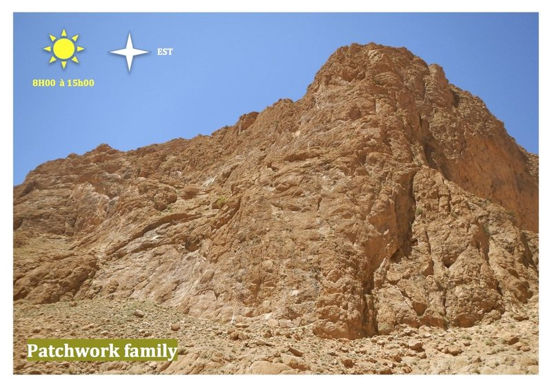 Climbing in Morocco  Escalade au Maroc<br> Guidebook climbing in the Todra gorges <br> Patchwork family area