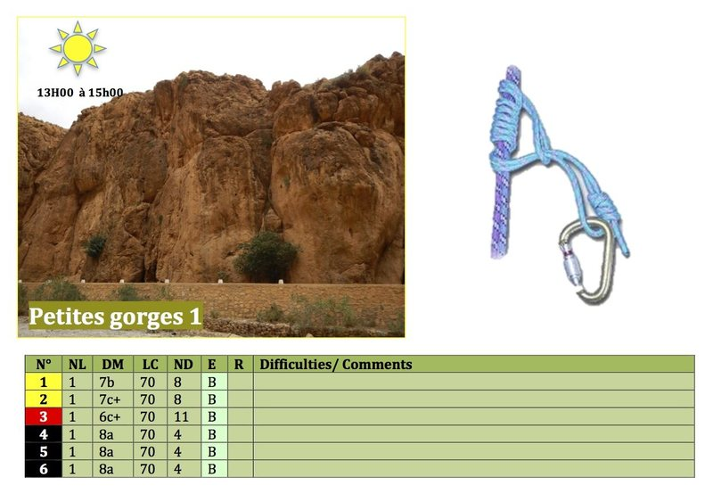 Climbing in Morocco  Escalade au Maroc<br> Guidebook climbing in the Todra gorges <br> Petites gorges 1