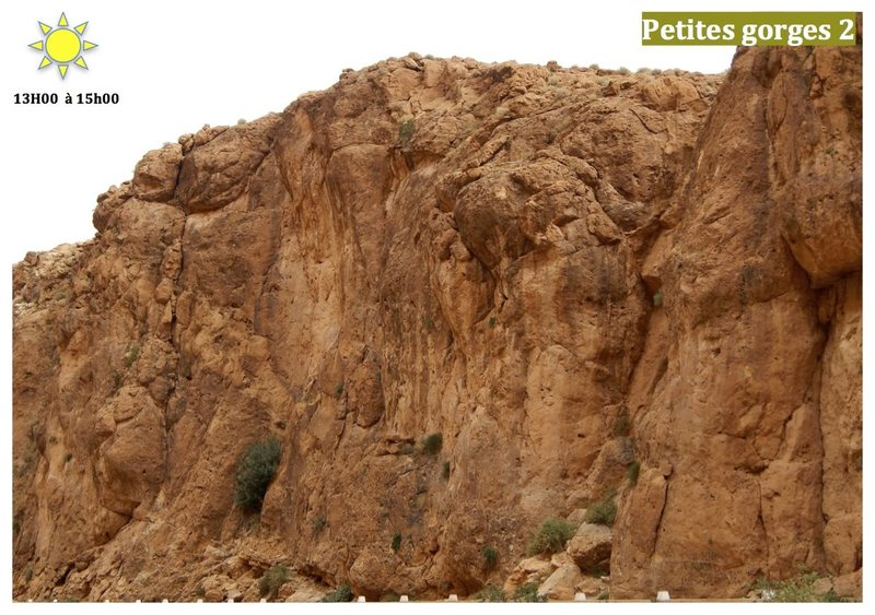Climbing in Morocco  Escalade au Maroc<br> Guidebook climbing in the Todra gorges <br> Petites gorges 2 area