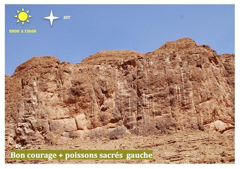 Climbing in Morocco  Escalade au Maroc<br> Guidebook climbing in the Todra gorges <br> Poissons sacrés gauche