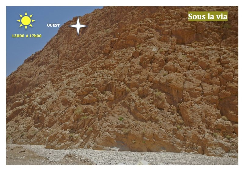 Climbing in Morocco  Escalade au Maroc<br> Guidebook climbing in the Todra gorges <br> Sous la via area
