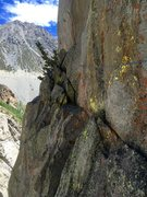 Rock Climbing Photo: The traversing third pitch. 5.1