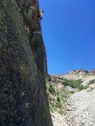 Rock Climbing Photo: Dave enjoying pitch 5