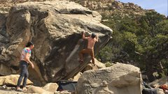 "Rock Climbing Photo: Just after the crux dead point/dyno on ""Chips..."