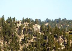 Rock Climbing Photo: Black Bluff from Hwy 18, Big Bear South