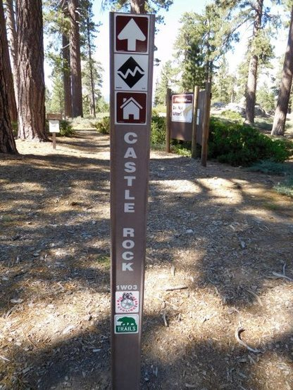 Upper Castle Rock trailhead, Big Bear South